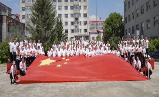 """阿城区工商联开展 """"不忘初心跟党走、歌唱祖国庆七一""""快闪活动"""